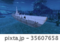 潜水艦 cg 海中のイラスト 35607658