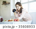デジタルカメラ デジカメ パンの写真 35608933