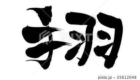 筆文字 手羽 食べ物 イラスト  35612048