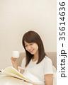 ライフスタイル 読書をする女性 35614636