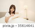 ライフスタイル 読書をする女性 35614641