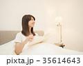 ライフスタイル 読書をする女性 35614643