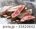 焼き上がったステーキ肉 35620642