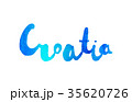 Hand lettering of Croatia with watercolor texture 35620726