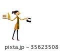 カフェ 喫茶店 女性のイラスト 35623508