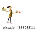 カフェ 喫茶店 女性のイラスト 35623511