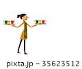 カフェ 喫茶店 女性のイラスト 35623512