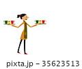 カフェ 喫茶店 女性のイラスト 35623513