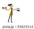 カフェ 喫茶店 女性のイラスト 35623514