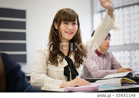 大学生 勉強 挙手 質問 35631148