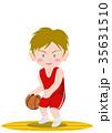 バスケットボール ドリブル 白人 35631510