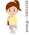 レジ袋を持つ女性 35631528