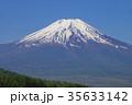残雪 富士山 春の写真 35633142