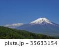 残雪 富士山 春の写真 35633154