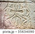 壁画 世界遺産アンコール遺跡群 Banteay Kdei カンボジア・シェムリアップ 35634090