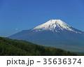 新緑 富士山 残雪の写真 35636374