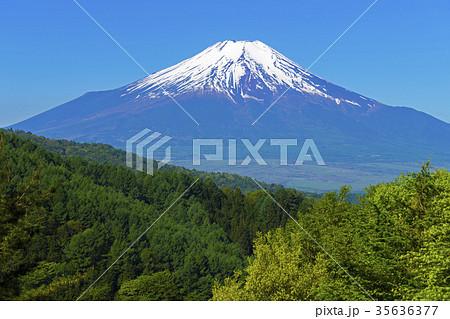 残雪の富士山 35636377