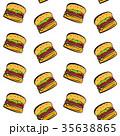 ハンバーガー バーガー ポップアートのイラスト 35638865