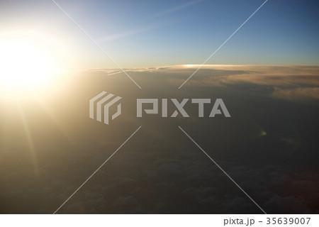 台湾高雄空港から神戸空港への空から見た景色 35639007