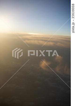 台湾高雄空港から神戸空港への空から見た景色 35639008