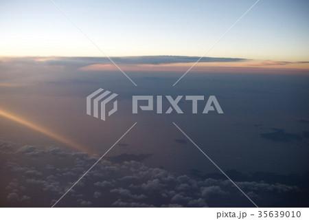 台湾高雄空港から神戸空港への空から見た景色 35639010