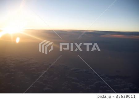 台湾高雄空港から神戸空港への空から見た景色 35639011