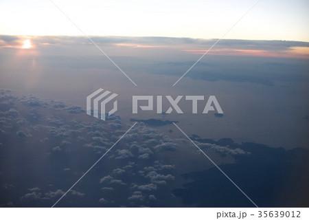台湾高雄空港から神戸空港への空から見た景色 35639012