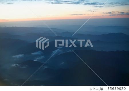 台湾高雄空港から神戸空港への空から見た景色 35639020