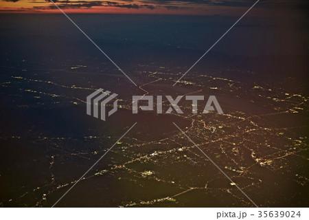台湾高雄空港から神戸空港への空から見た景色 35639024