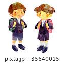 小学生 ランドセル 制服のイラスト 35640015