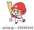 野球をする男子 35646344