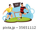ベクトル サッカー フットボールのイラスト 35651112