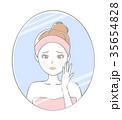 鏡 女性 老化のイラスト 35654828