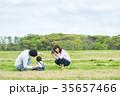 公園 遊ぶ 家族の写真 35657466