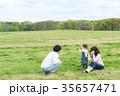 公園 遊ぶ 家族の写真 35657471