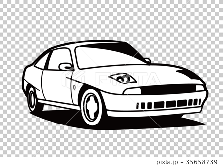 Italian coupe coloring style car illustration 35658739