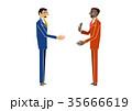 会話 ビジネスマン ビジネスのイラスト 35666619