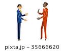 会話 ビジネスマン ビジネスのイラスト 35666620