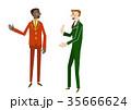 会話 ビジネスマン ビジネスのイラスト 35666624