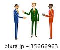 ビジネス ビジネスマン 打ち合わせのイラスト 35666963