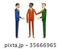 ビジネス ビジネスマン 打ち合わせのイラスト 35666965