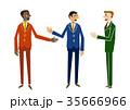 ビジネス ビジネスマン 打ち合わせのイラスト 35666966
