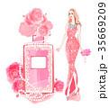 薔薇と香水 35669209
