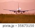 飛行機 航空機 旅客機の写真 35673150
