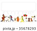 ベクター 犬 猫のイラスト 35678293