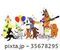 ベクター 犬 猫のイラスト 35678295