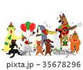 ベクター 犬 猫のイラスト 35678296