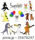 ベクター 犬 猫のイラスト 35678297