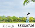 親子 公園 遊ぶの写真 35680786