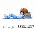わんこ 犬 帽子のイラスト 35681837